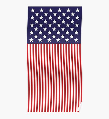 Stylized American Flag Poster