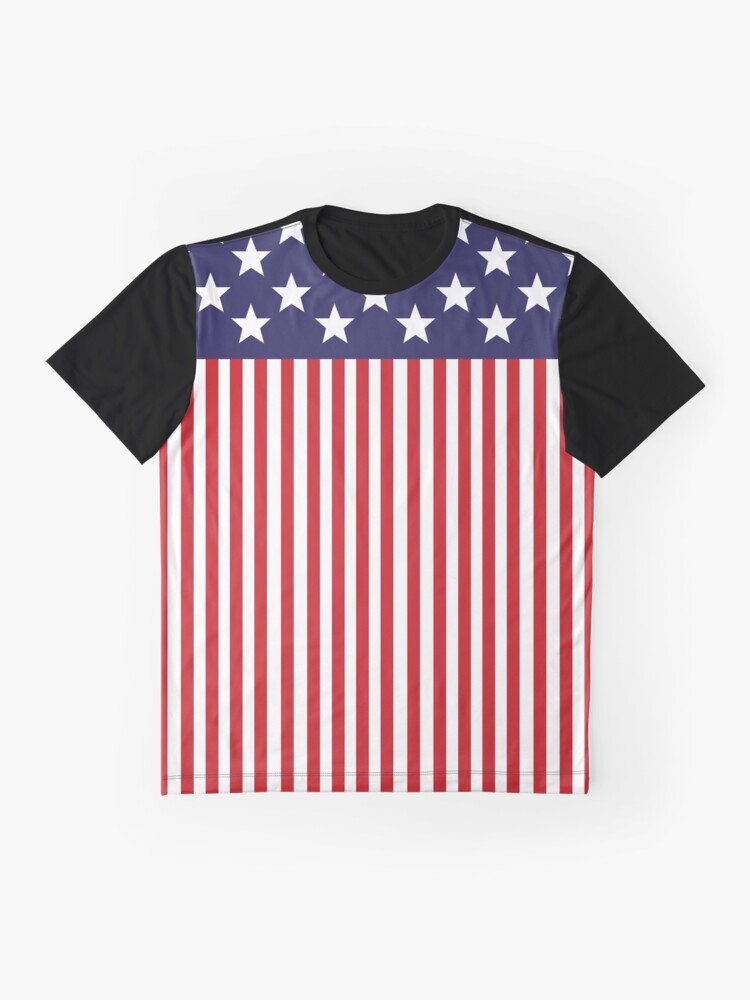 Alternate view of Stylized American Flag Graphic T-Shirt