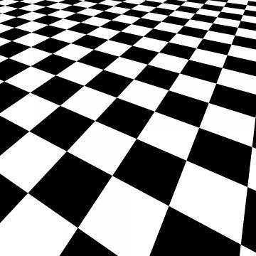 Black and white squares / checks by BigRedDot