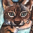 Watercolor Wildlife: Teal Eyes by NoelleMBrooks