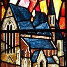On Fire, WW2; The Royal Garrison Church  by wiggyofipswich