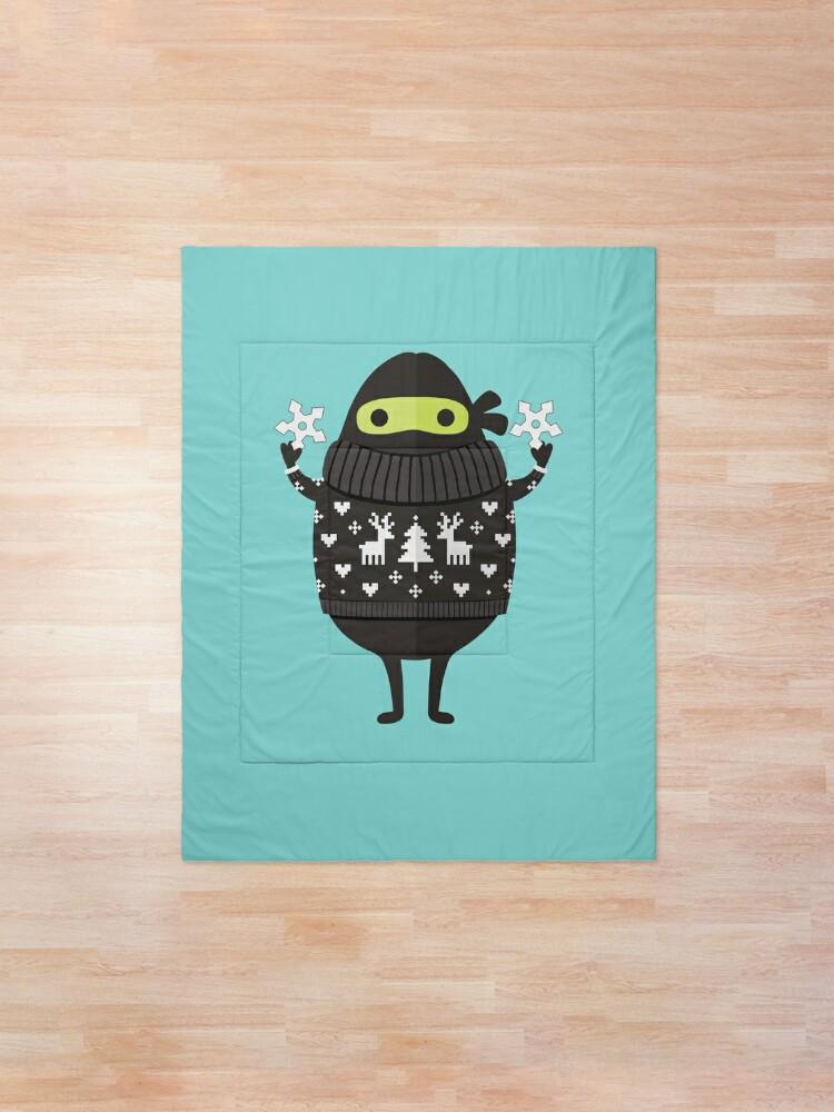Alternate view of Ninjacado in Holiday Sweater Comforter