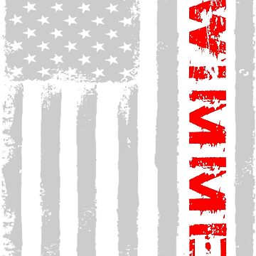 American Swimmer Flag Tshirt. by zulfiqor