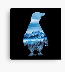 Penguin nature mountains Canvas Print