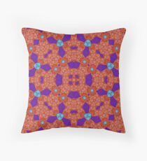 red blue Abstract Pattern Throw Pillow