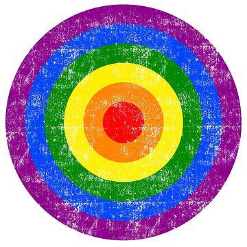 Rainbow Flag Circles Peace Lesbian Gay Movement by peter2art