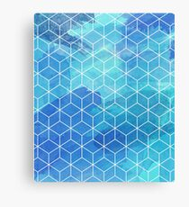 Abstract Watercolor polygon cube gift Canvas Print