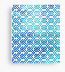 Pattern triangle geometric blue turquoise gift Canvas Print