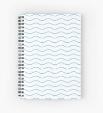 Pattern wave geometric blue gift Spiral Notebook