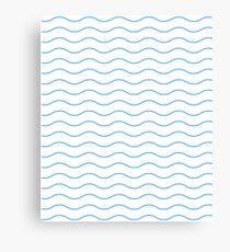 Pattern wave geometric blue gift Canvas Print