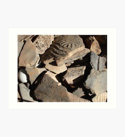 native American,Creek tribe,potsherds,ancient,Florida, Art Print