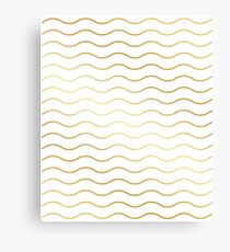 Pattern wave gold gift Canvas Print
