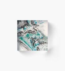 On Emerald Waves Acrylic Block