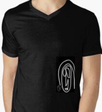 Unasolalinea  Men's V-Neck T-Shirt