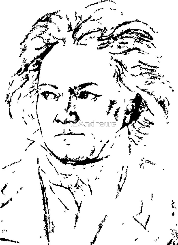 Beethoven Portrait by PZAndrews