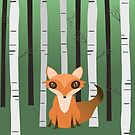 A fox in the woods by Bwiselizzy