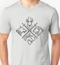 Game of Thrones Houses - Black logo Slim Fit T-Shirt