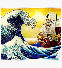 The Great Wave off One Piece Poster