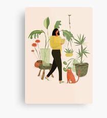 Migrating a Plant Metal Print