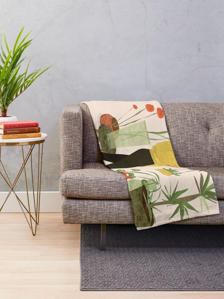 Alternate view of Migrating a Plant Throw Blanket