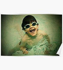 swimming in pool Poster