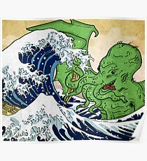 The Great Wave off Octopus Poster