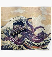 The Great Wave off Octopus War Poster