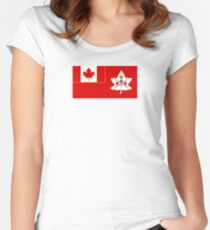 Flag of the Canadian Army  Women's Fitted Scoop T-Shirt