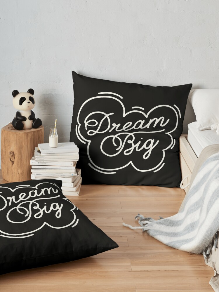 Alternate view of Dream big by Elebea Floor Pillow