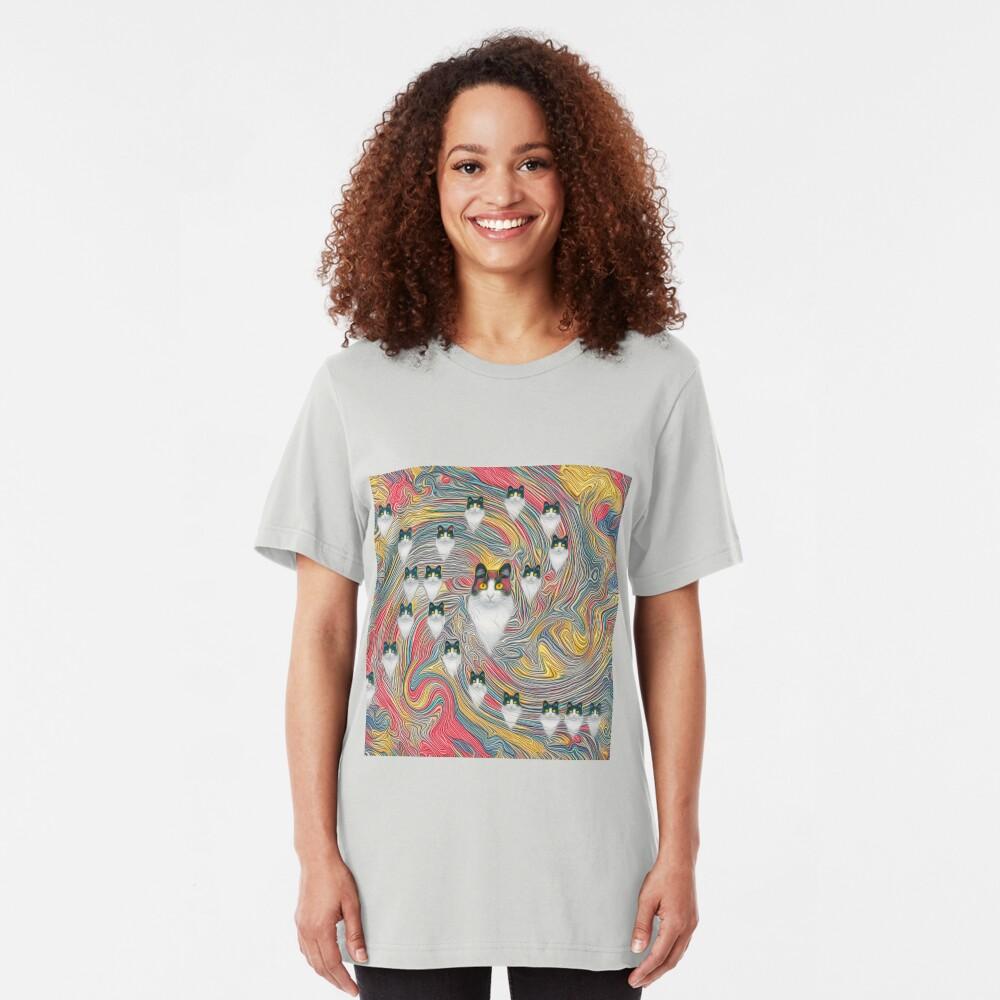 Abstract fibonacci cats Slim Fit T-Shirt