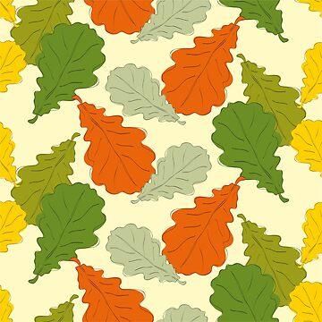 Oak leaves by NataliaL
