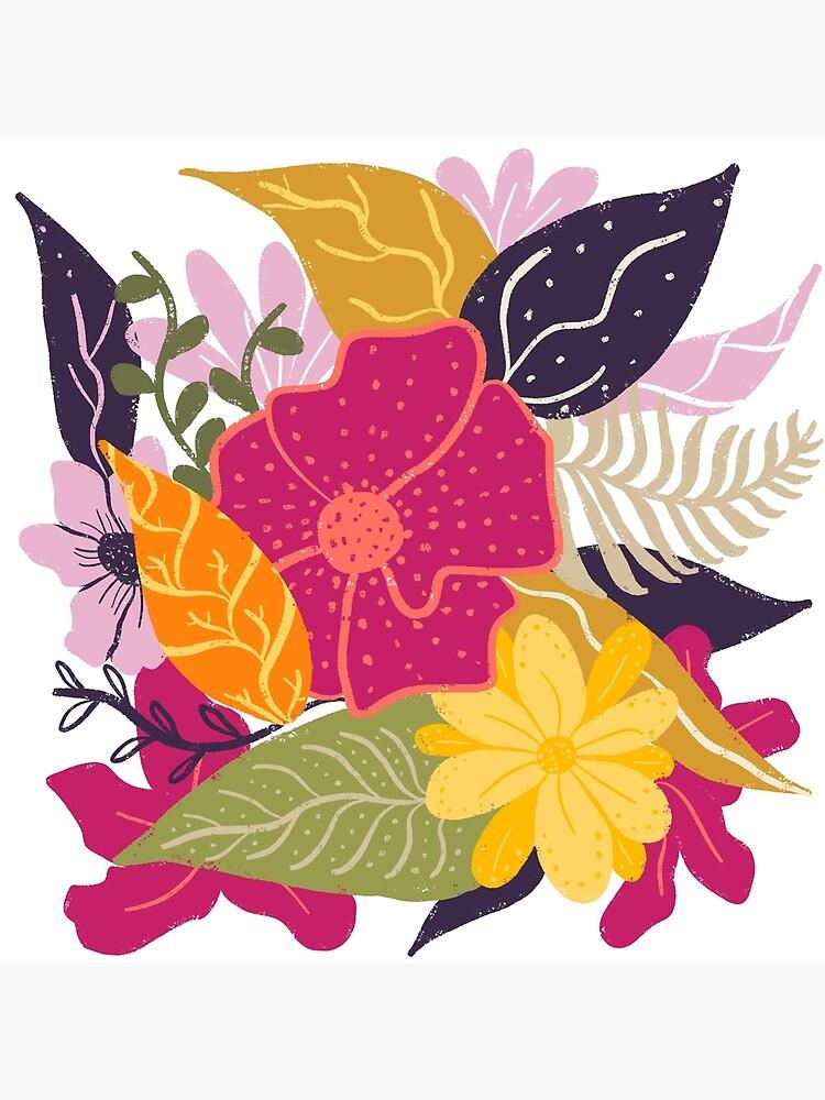 Moderna composición floral grande ilustración tendencia de color por Girly Trend de GirlyTrend