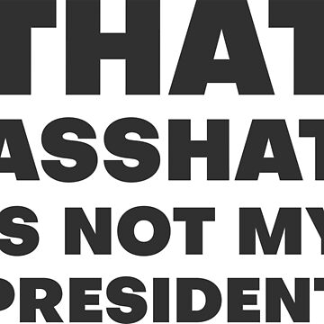 That Asshat Is Not My President Anti Trump by artvia