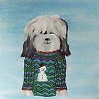 Tibetan Terrier - Christmas Jumper by Shani Burgess