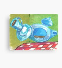 The Mad Hatter's Flying Tea Set Canvas Print