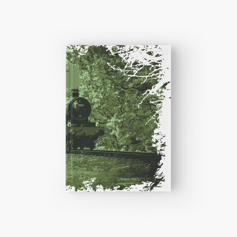 Steam Train in Green Hardcover Journal