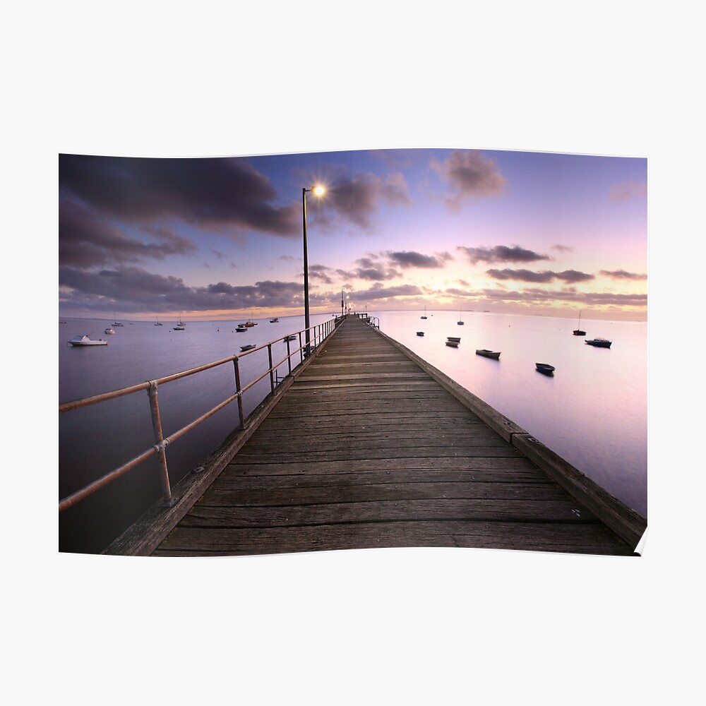 Pre-dawn Glow, Mornington Peninsula, Australia Poster