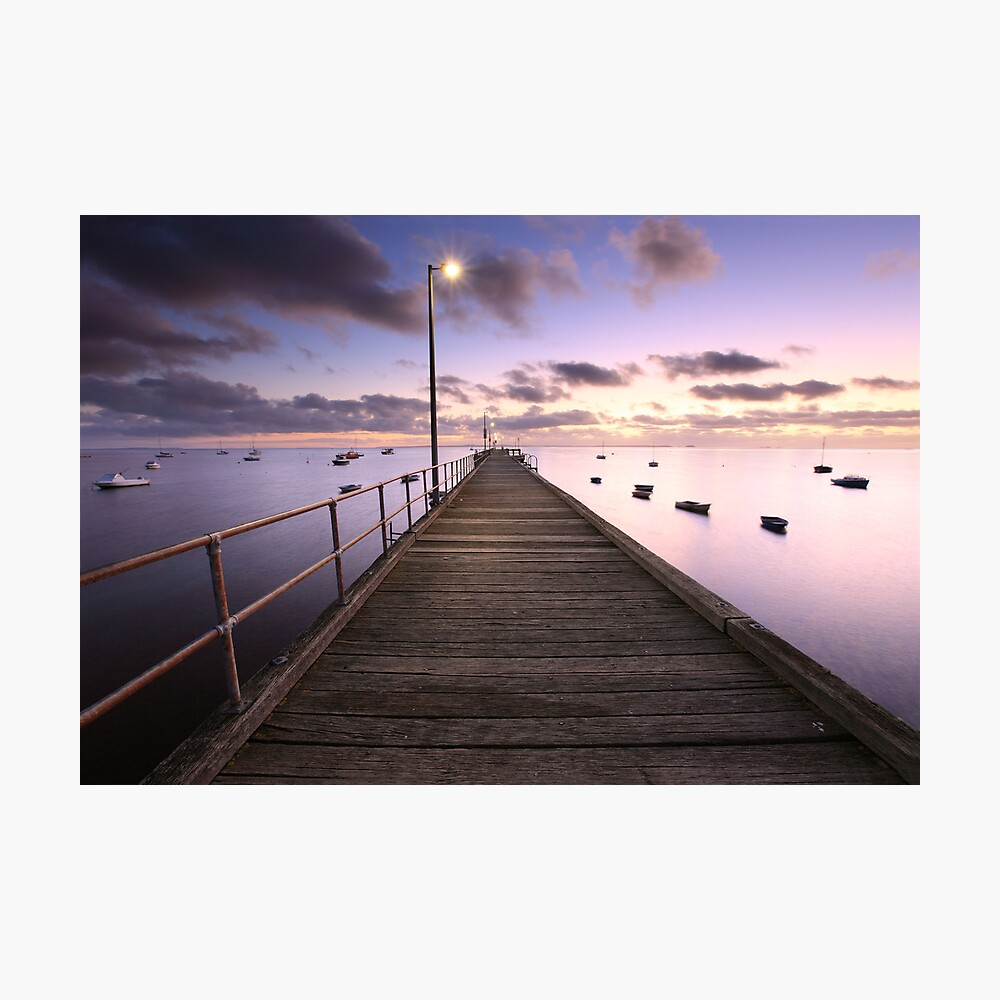 Pre-dawn Glow, Mornington Peninsula, Australia Photographic Print