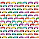 Classic Mini , Rainbow Mini Car , vintage UK car.  by MagentaRose