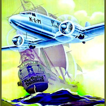 KLM : Vintage Royal Dutch Airlines Advertising Print by posterbobs