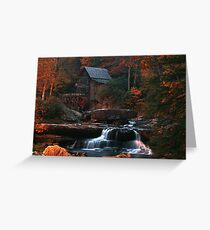 The Glade Creek Grist Mill Greeting Card