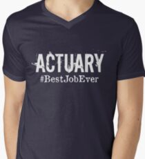 Funny Actuary T shirt Actuary Hoodie, Actuary Best Job Ever Men's V-Neck T-Shirt
