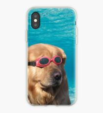 swimming dog iPhone Case