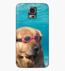 Funda/vinilo para Samsung Galaxy perro nadador