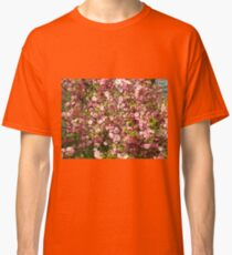 Pink flowers background Classic T-Shirt