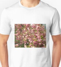 Pink flowers background T-Shirt