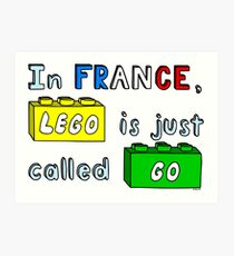 French Lego Art Print