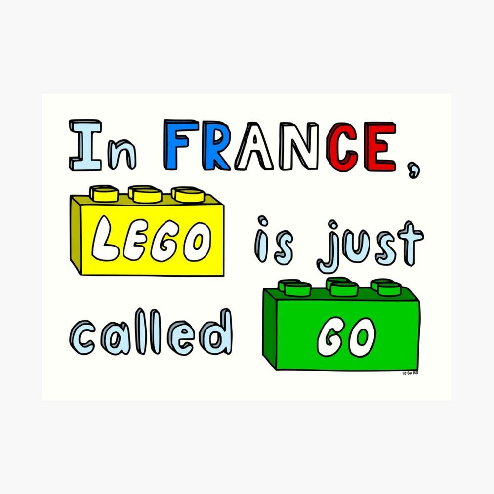 French Lego Art Print