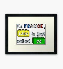 French Lego Framed Print