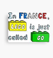 French Lego Metal Print